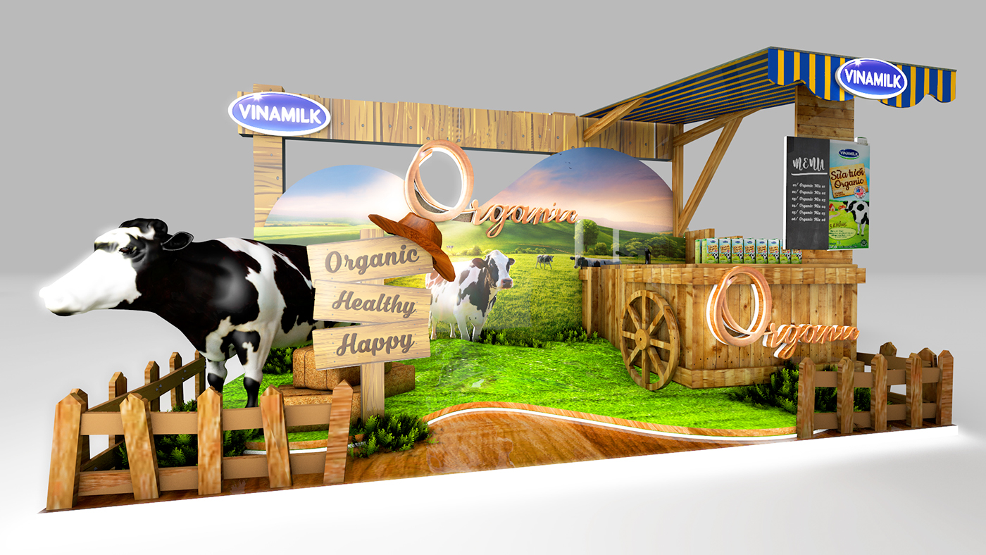 Expo Exhibition Stands Up : Vinamilk booth concept on behance