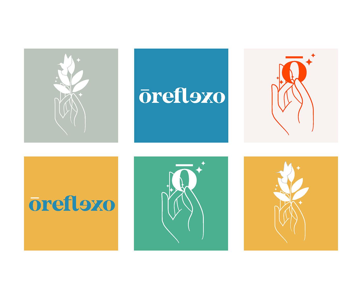 reflexologie global identity logo design graphique