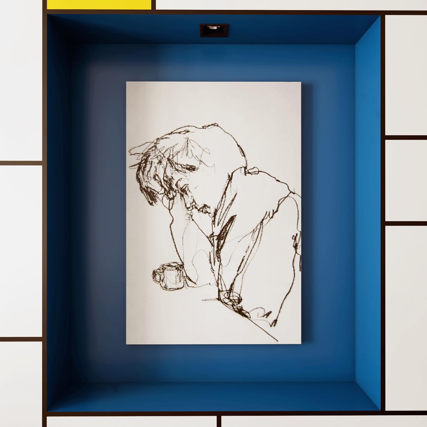 Image may contain: drawing, monitor and art