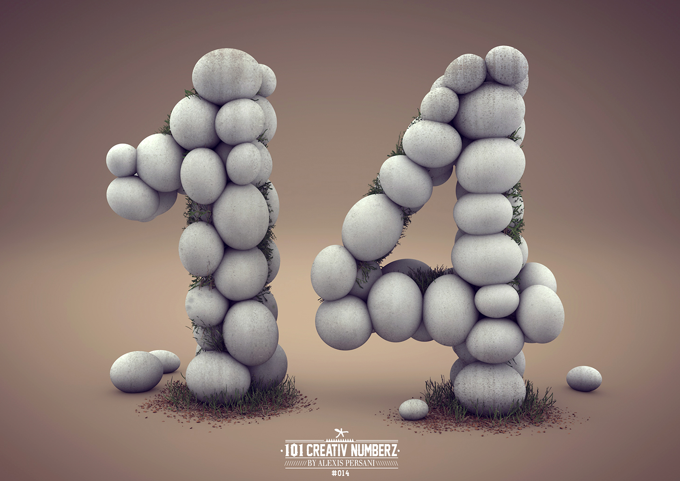 Outstanding 101 Creative Numbers Typography by Alexis Persani 13