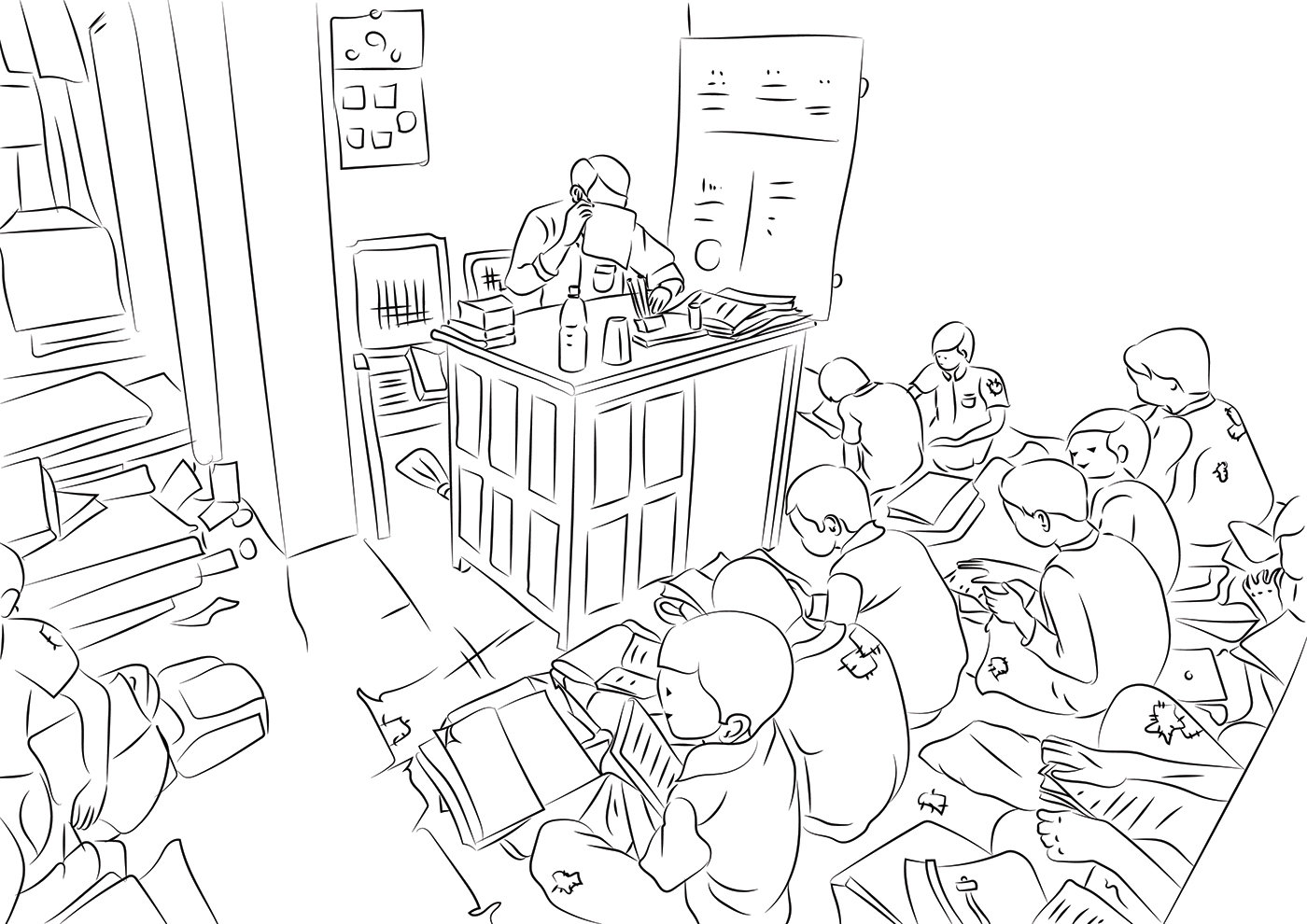 illustrations Digital Drawing concept art story boarding sketching 2d Illustration