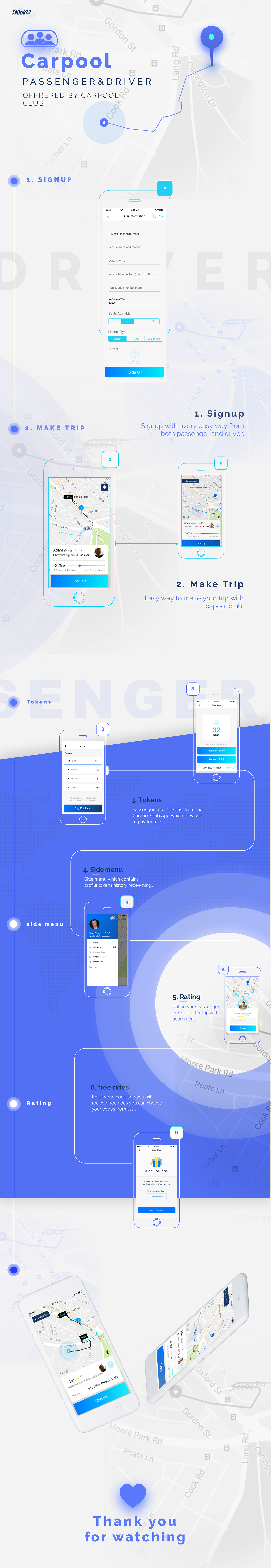 UI ux ios android Cars carpool mobile mobile design