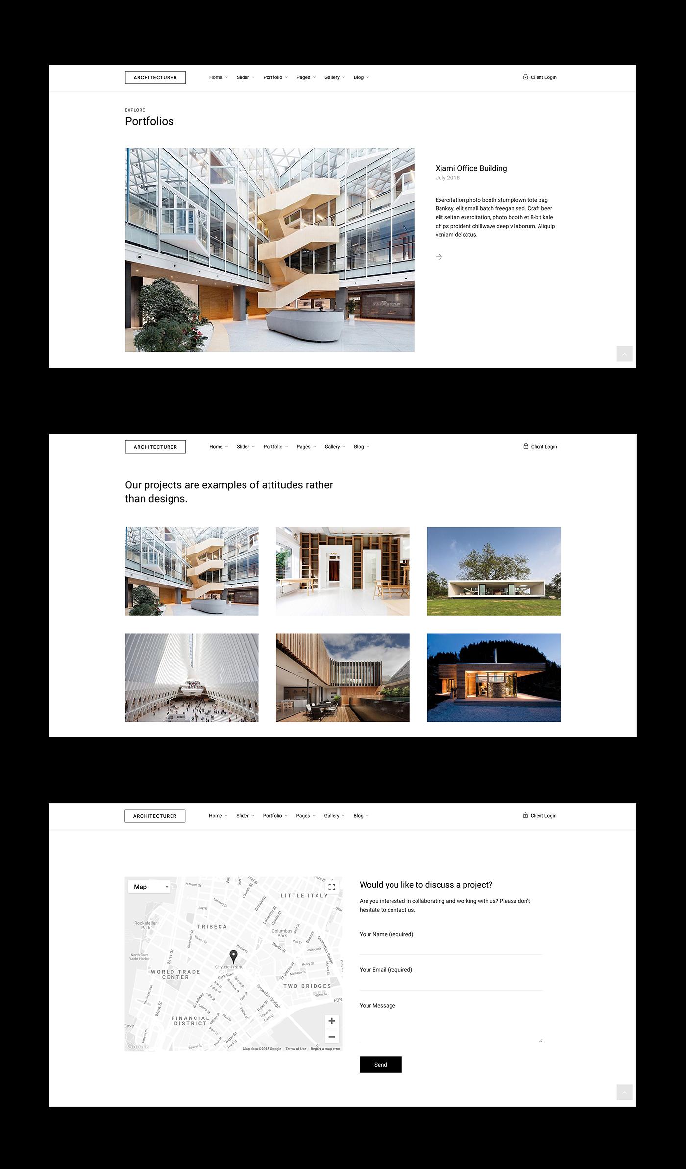 高品質的30款建築系作品集欣賞