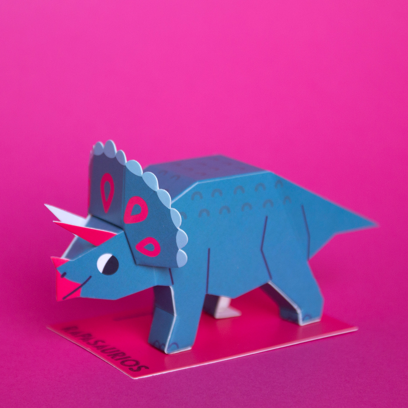 papercraft dinosaurs guardabosques rapanui paper dinosaurs lowpoly paper kit ILLUSTRATION  branding  papertoys