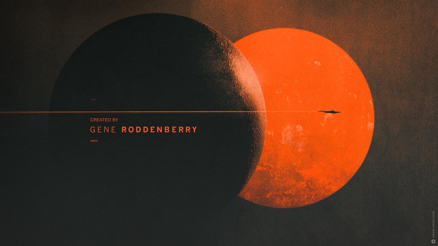 design graphic picard Sci Fi StarTrek titles