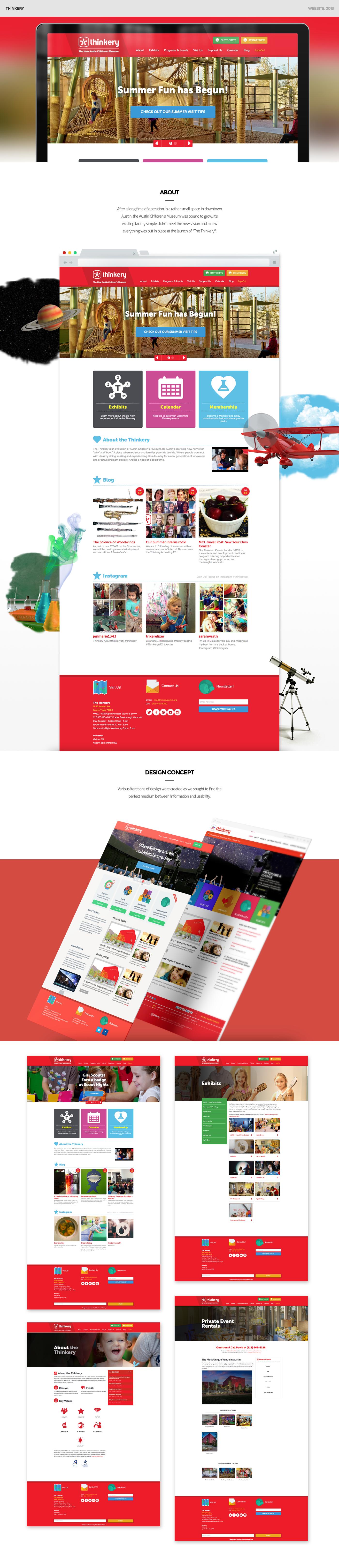 museum website children's Website design