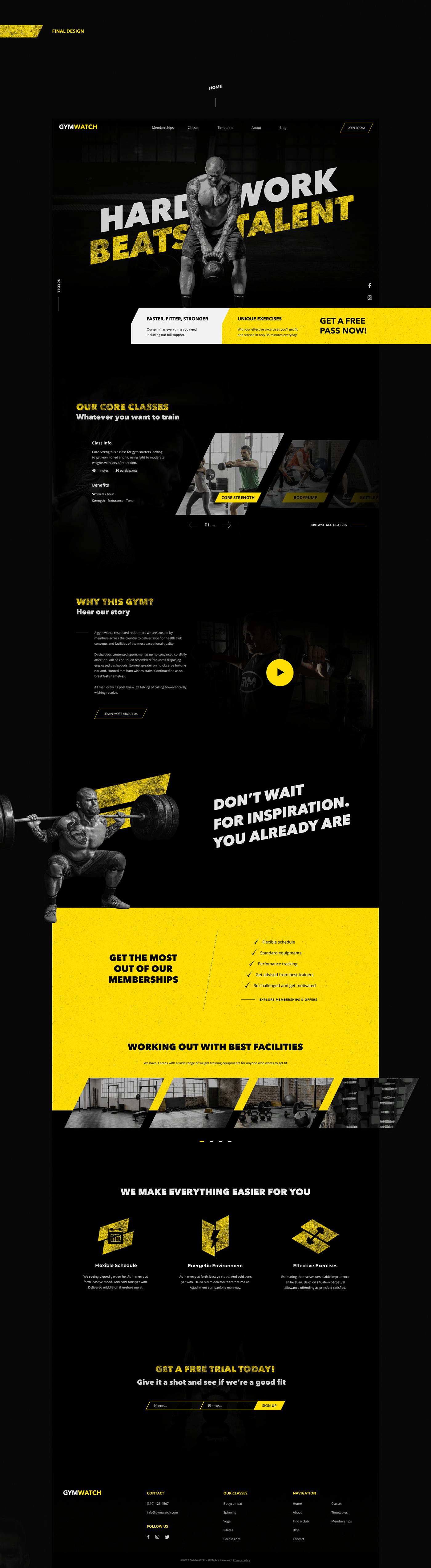 gym fitness Web Design  UI ux ostellar interactive design Responsive Urban typography
