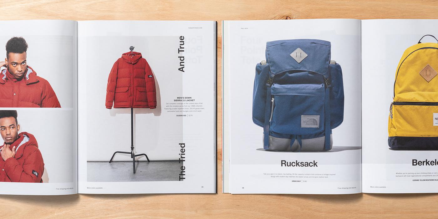 art direction  Photography  print book editorial catalog Lookbook northface Fashion  design