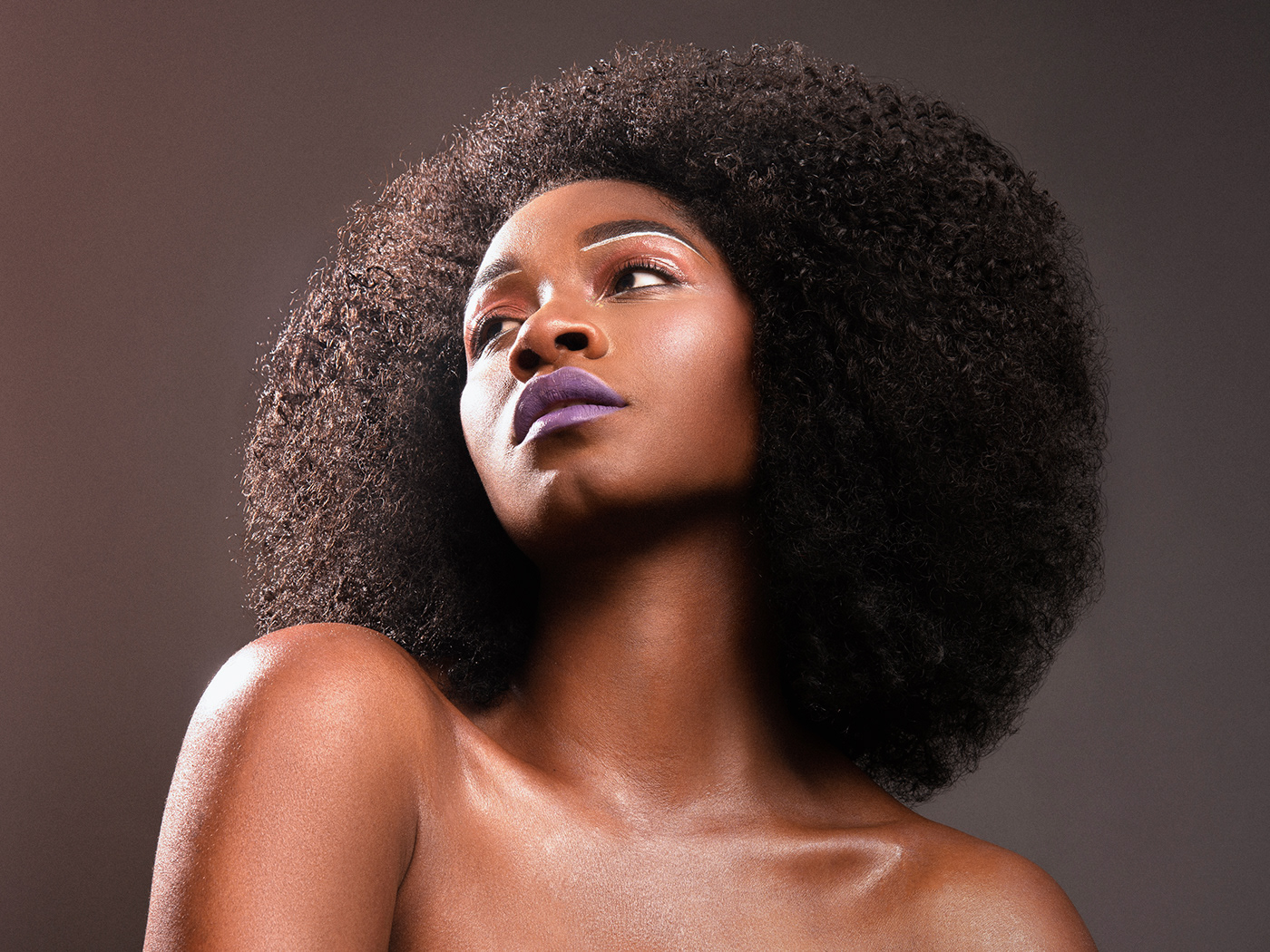 Fashion  glam color pop afro red pink gel Photography