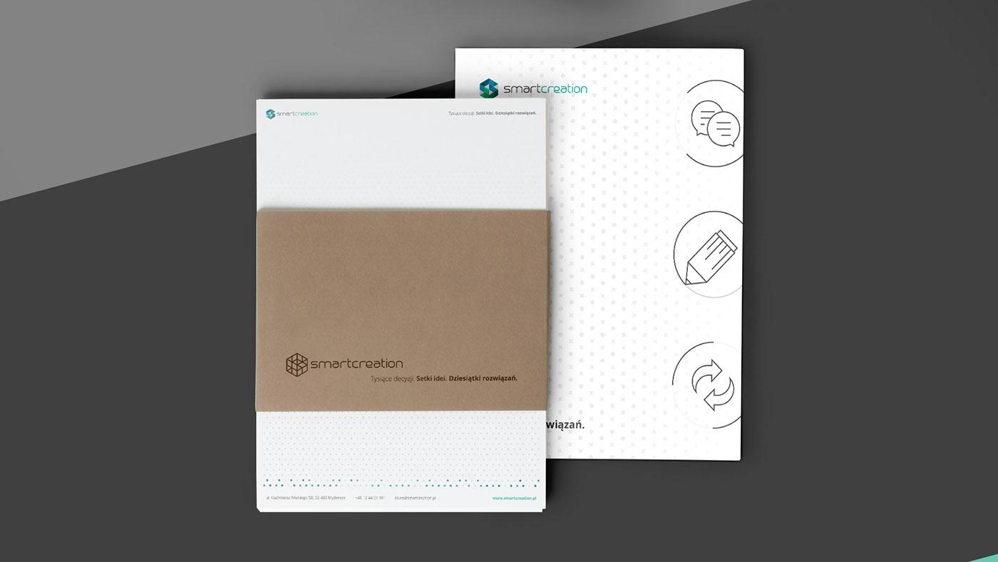 identity brand logodesign agency cards logo green emerald simple design icons