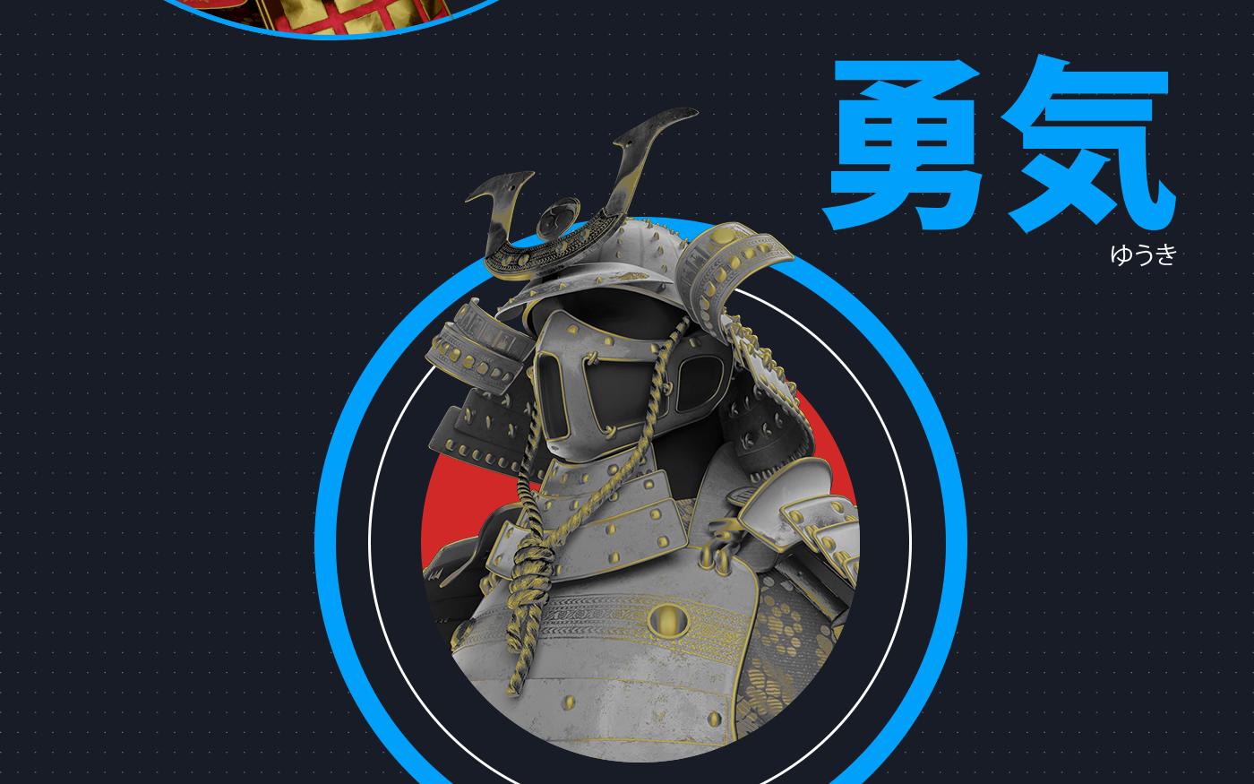 3D Modelling Texturization vfx resolume VJ samurai 3d animation blender short movie japan