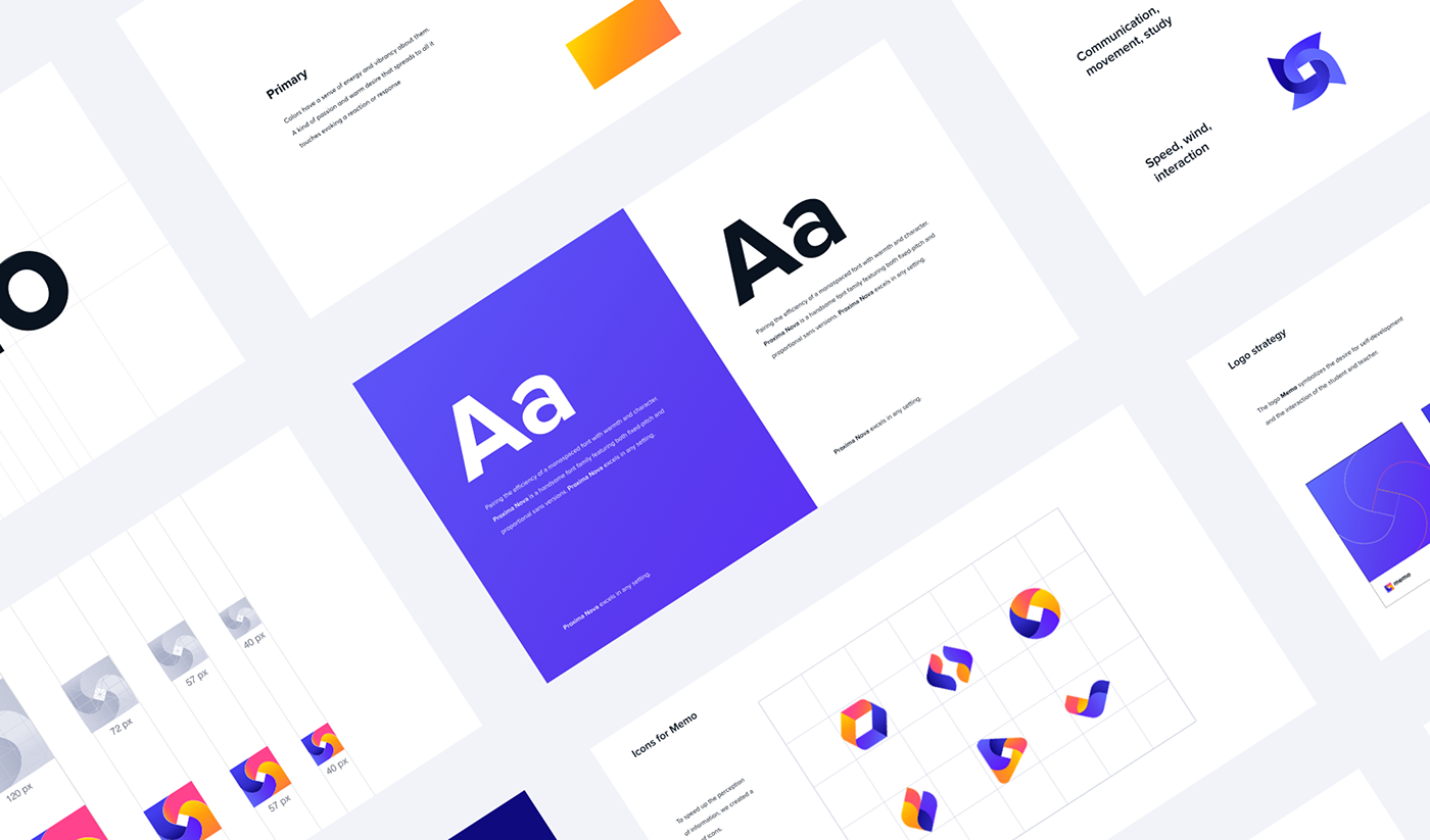 animation  Brand Design brandbook branding  color palette identity logo UI ux Web