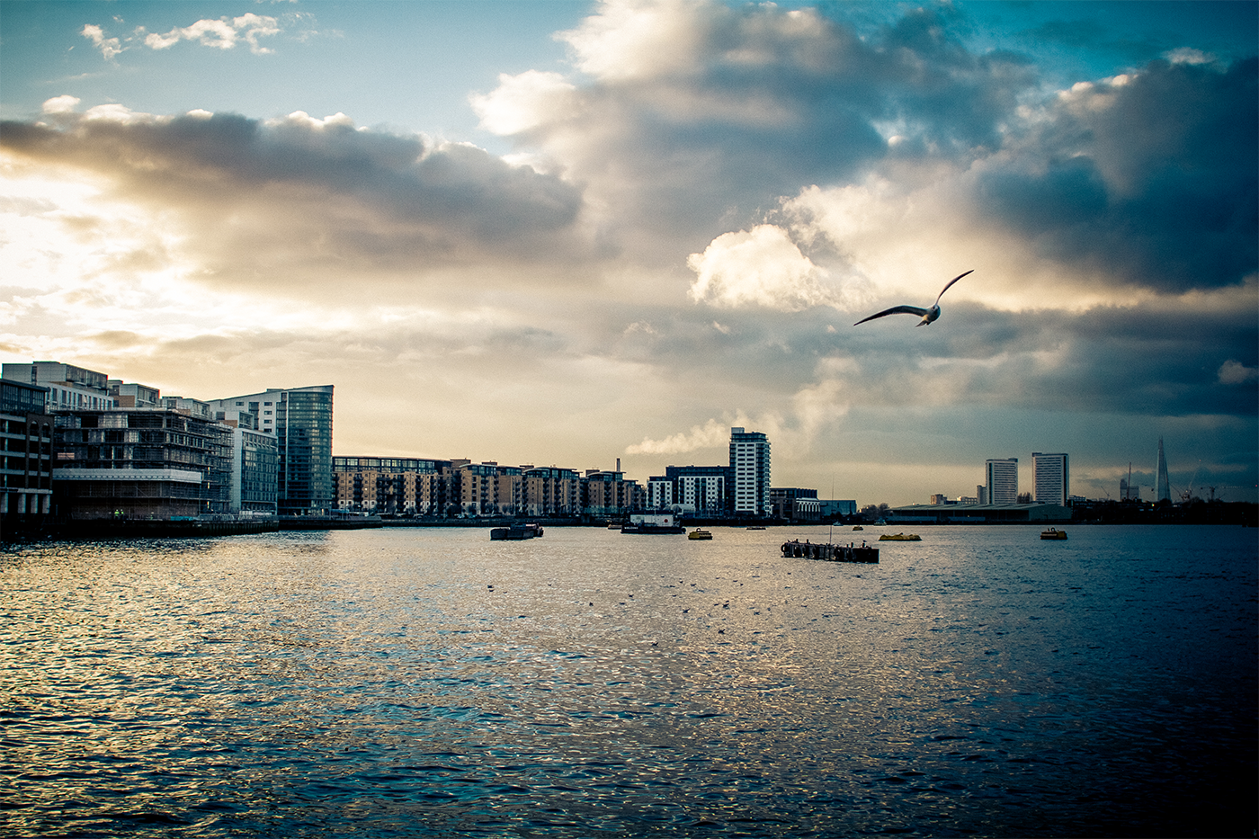 London city streets great britain Urban monuments SKY bridge birds londyn top view water