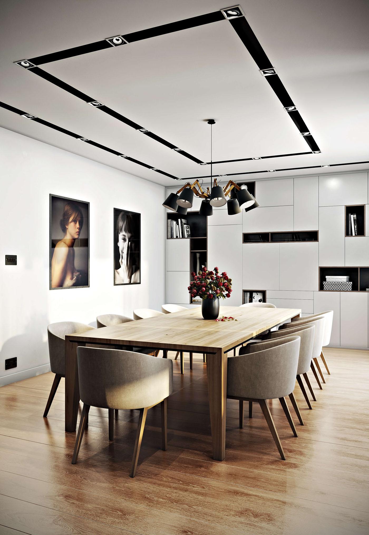 Kitchen Interior 3D Rendering on Behance