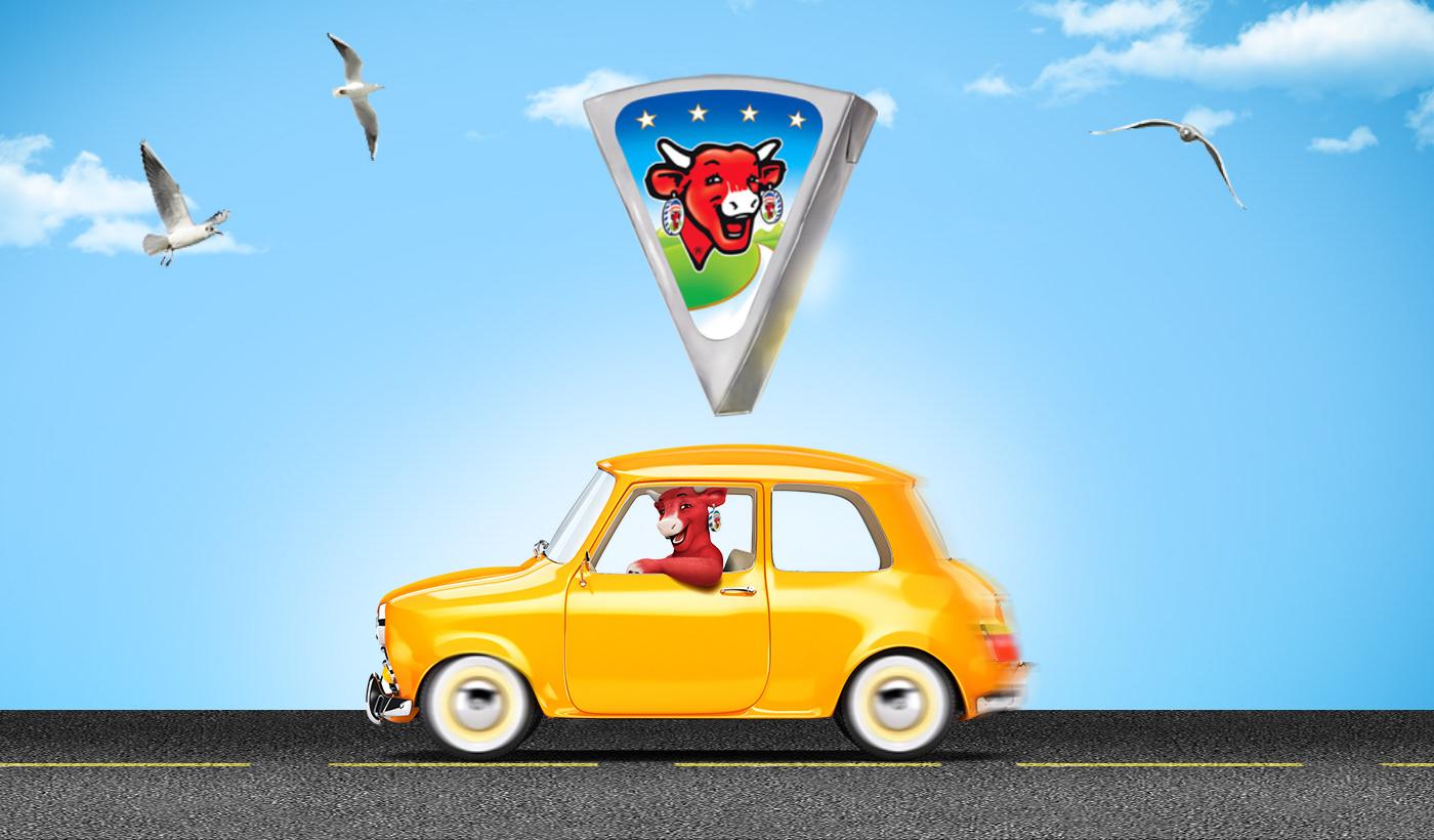 la vache qui rit fromage pointe Web concours lvqr bonheur partage route