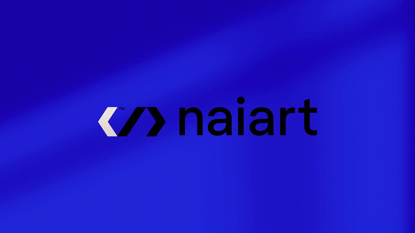 blue branding  identity logo Logo Design logodesign naiart posterdesign Saudi Technology
