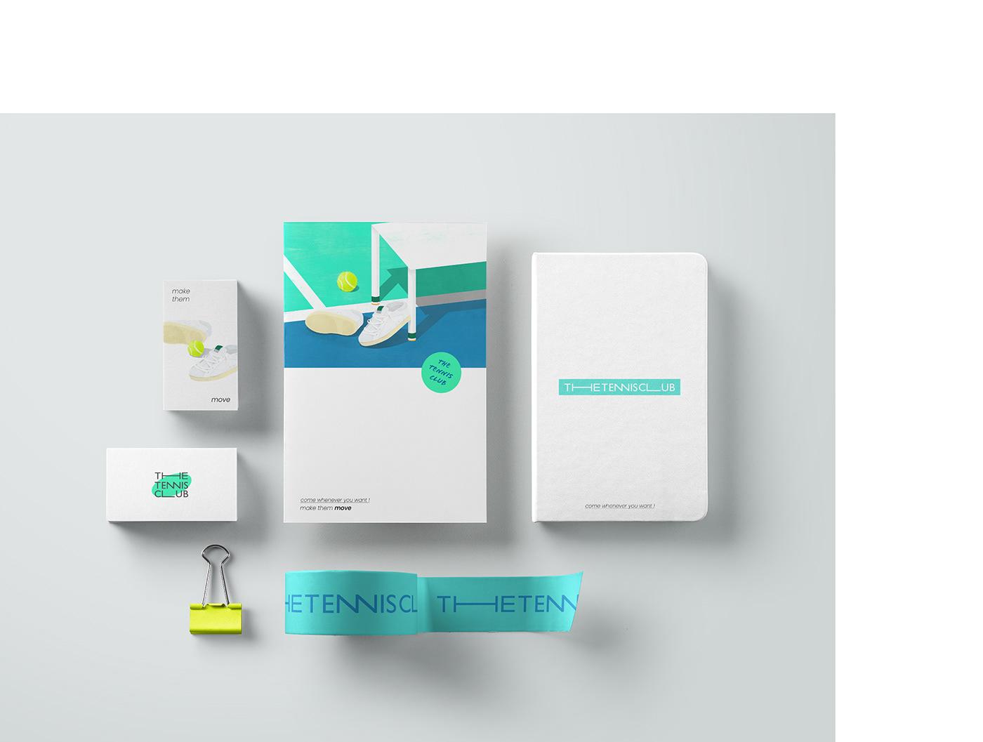 graphic design  ILLUSTRATION  branding  color graphic Layout editorial design  editorial tennis