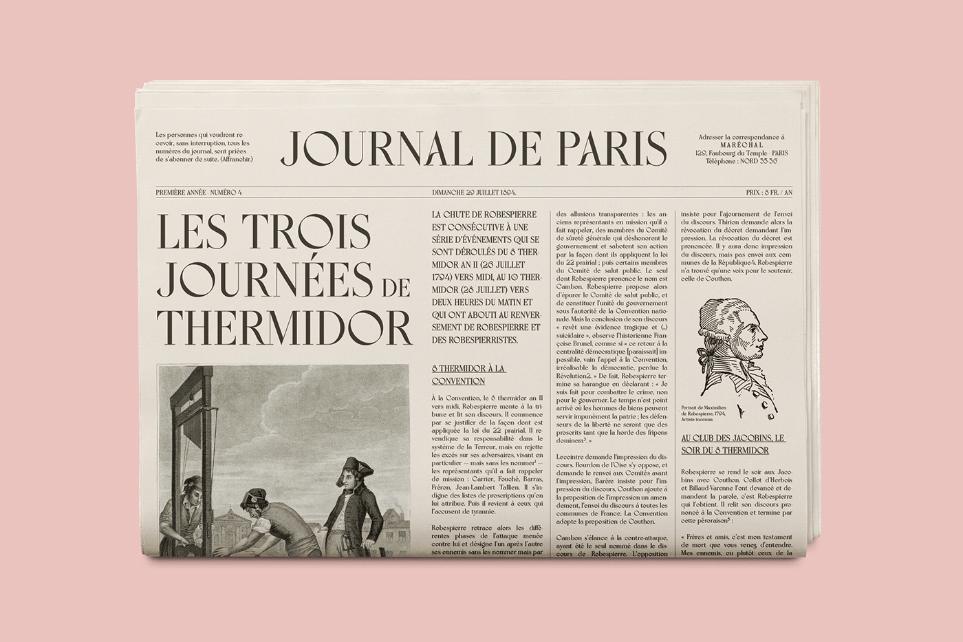 18th century display typeface font france Ligatures lyon napoleon romantic serif Typeface
