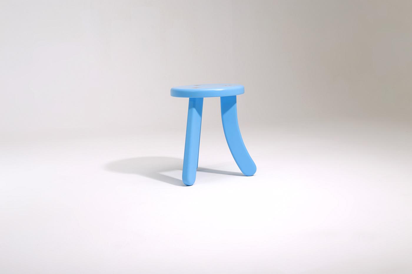 design furniture matsutake stool wood