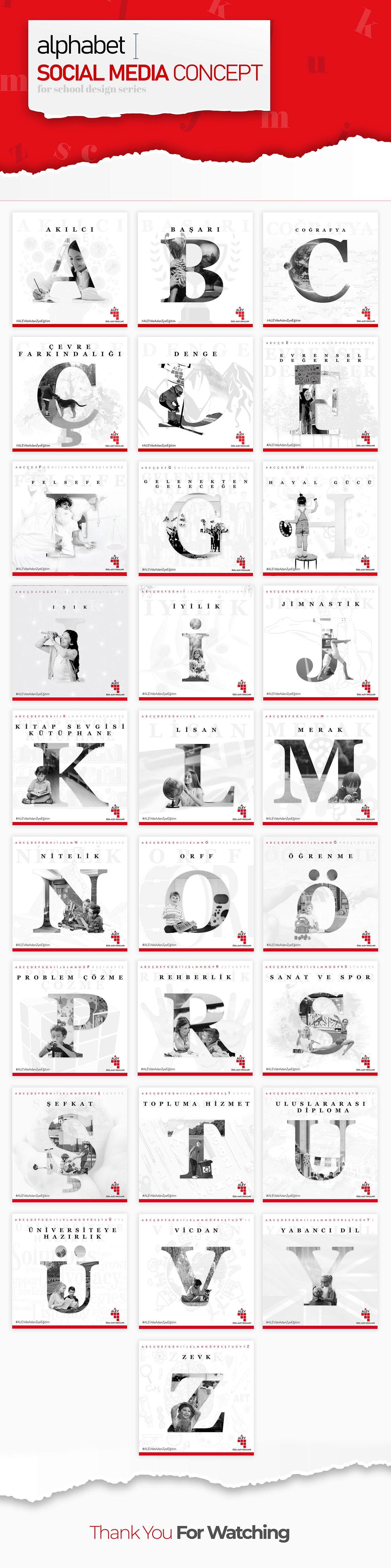 Alfabe alphabet concept Konsept social media social media alphabet social media concept Social Media Series sosyal medya