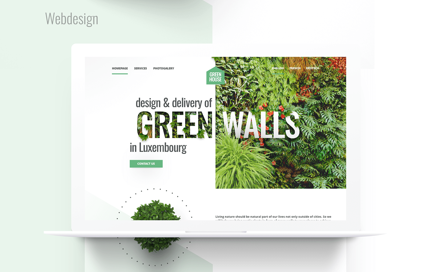 design green wall logo Logotype luxembourg marketing   Visual Communication Web