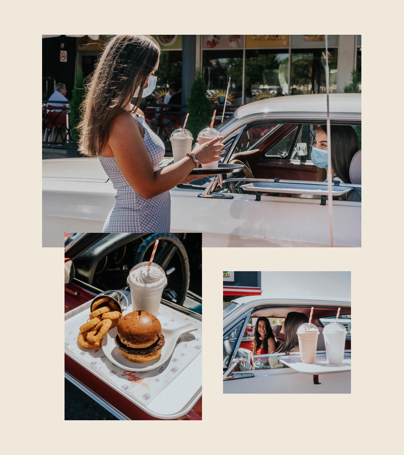 50s art direction  diner Food  Photography  photoshoot restaurant Retro