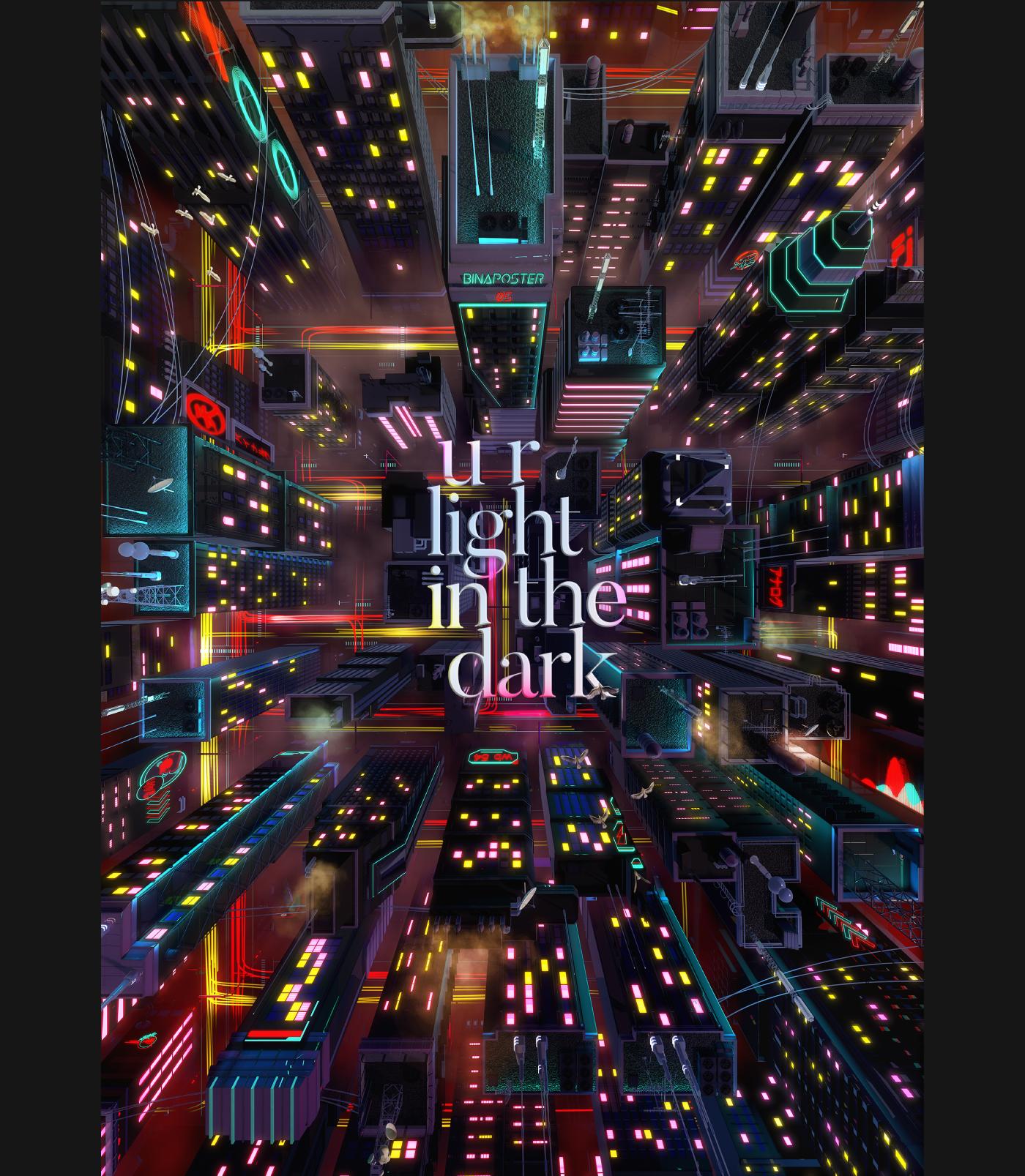 cartel 3D CG color print creative light cityscape neon