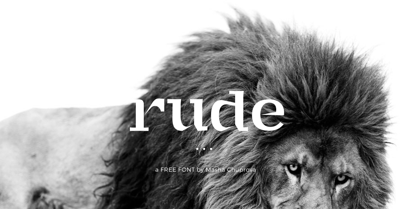 Rude Free font commercial use typo free download Free to use design logo minimalist free fonts