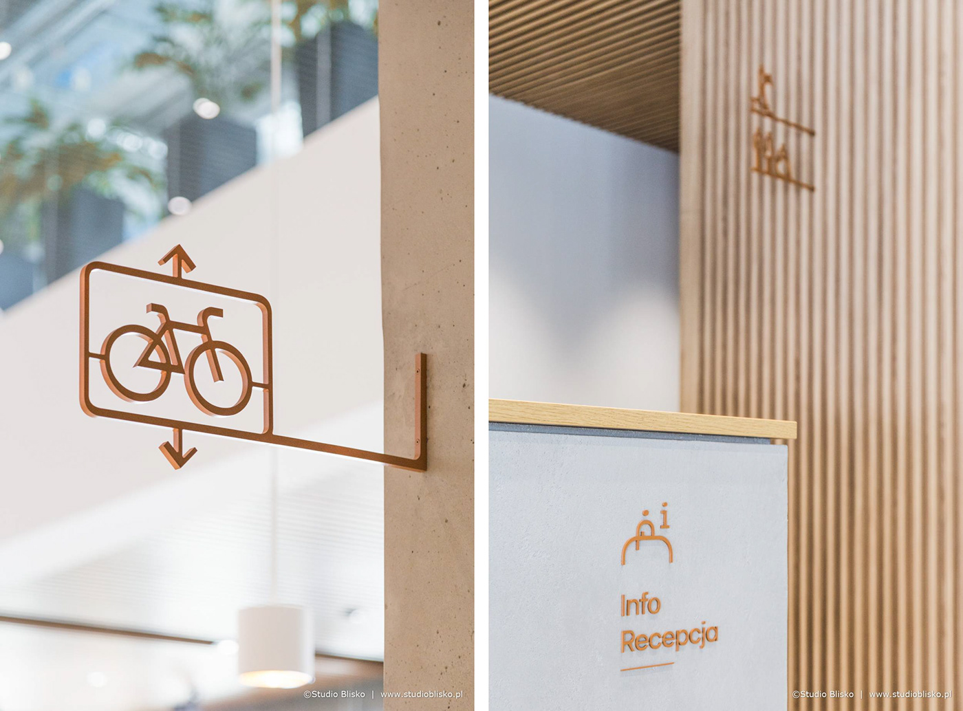 architecture copper pattern Signage typography   VisualInformation wayfinding