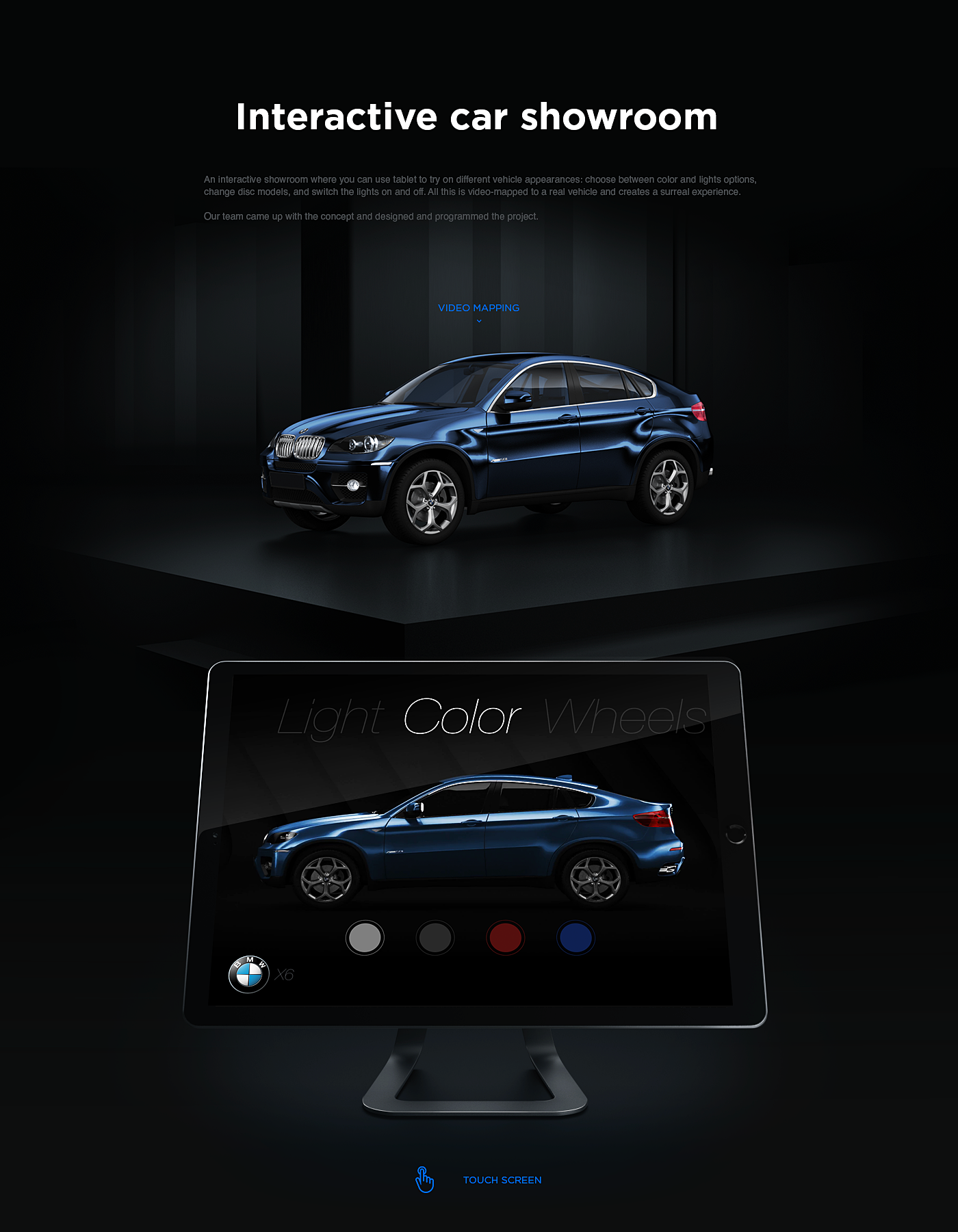 BMW app iPad video mapping application interactive car