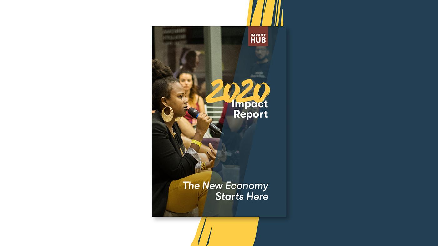 Impact report design data visualisation