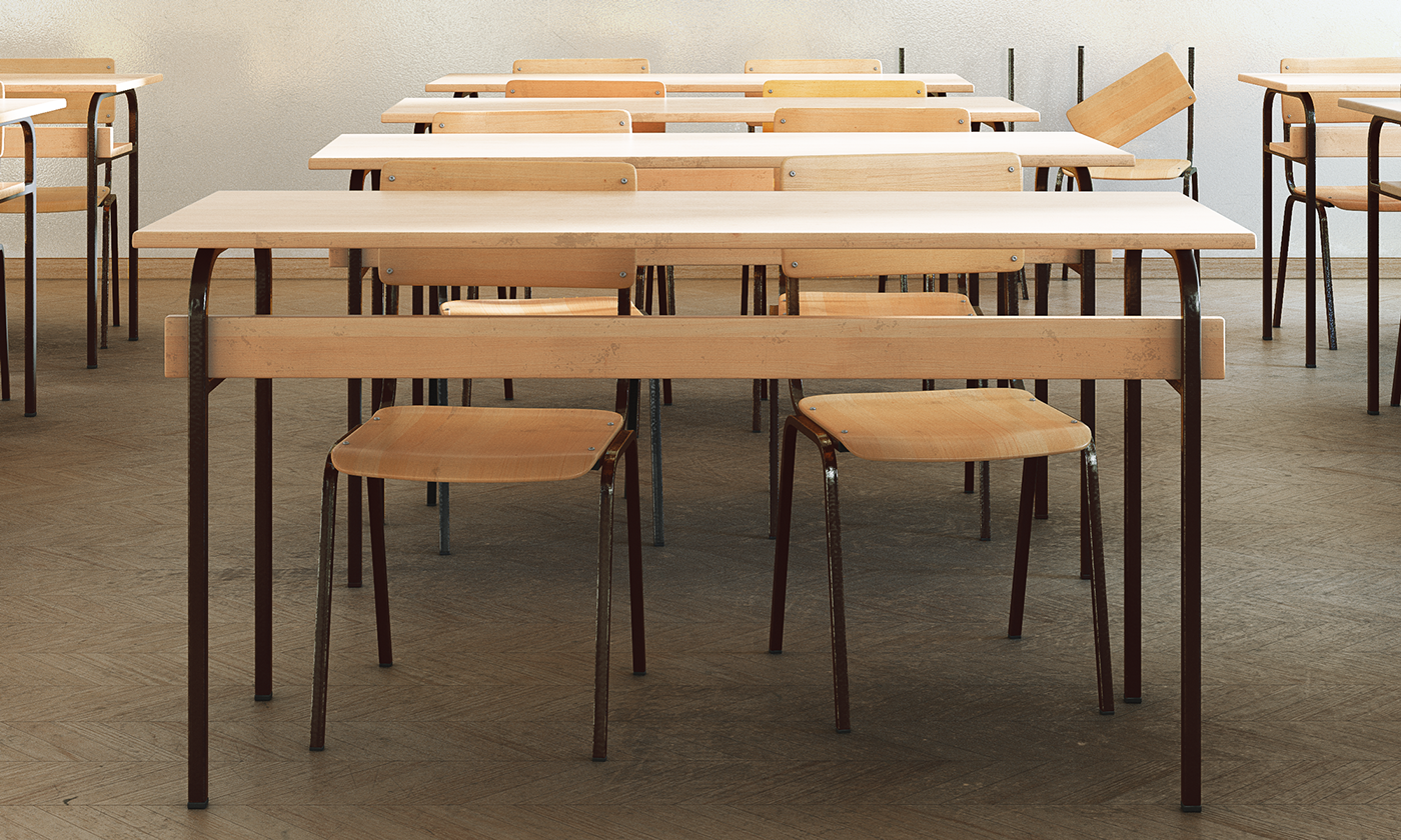 classroom school architecture Interior Render CGI Digital Art  ILLUSTRATION  vray modo
