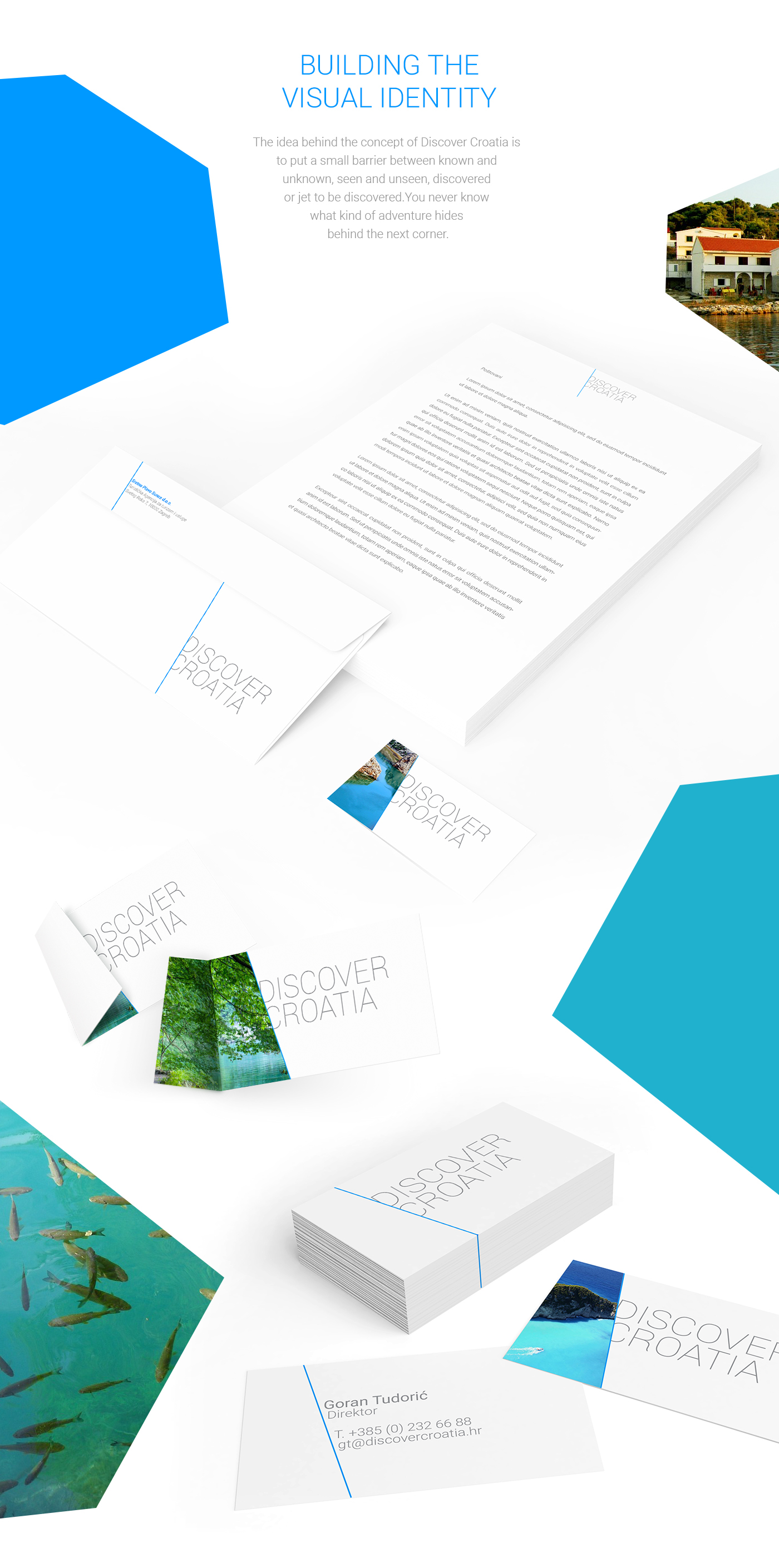 Croatia Travel summer Nature Zagreb UI agency logo hotel app poster Mockup New York portfolio identity