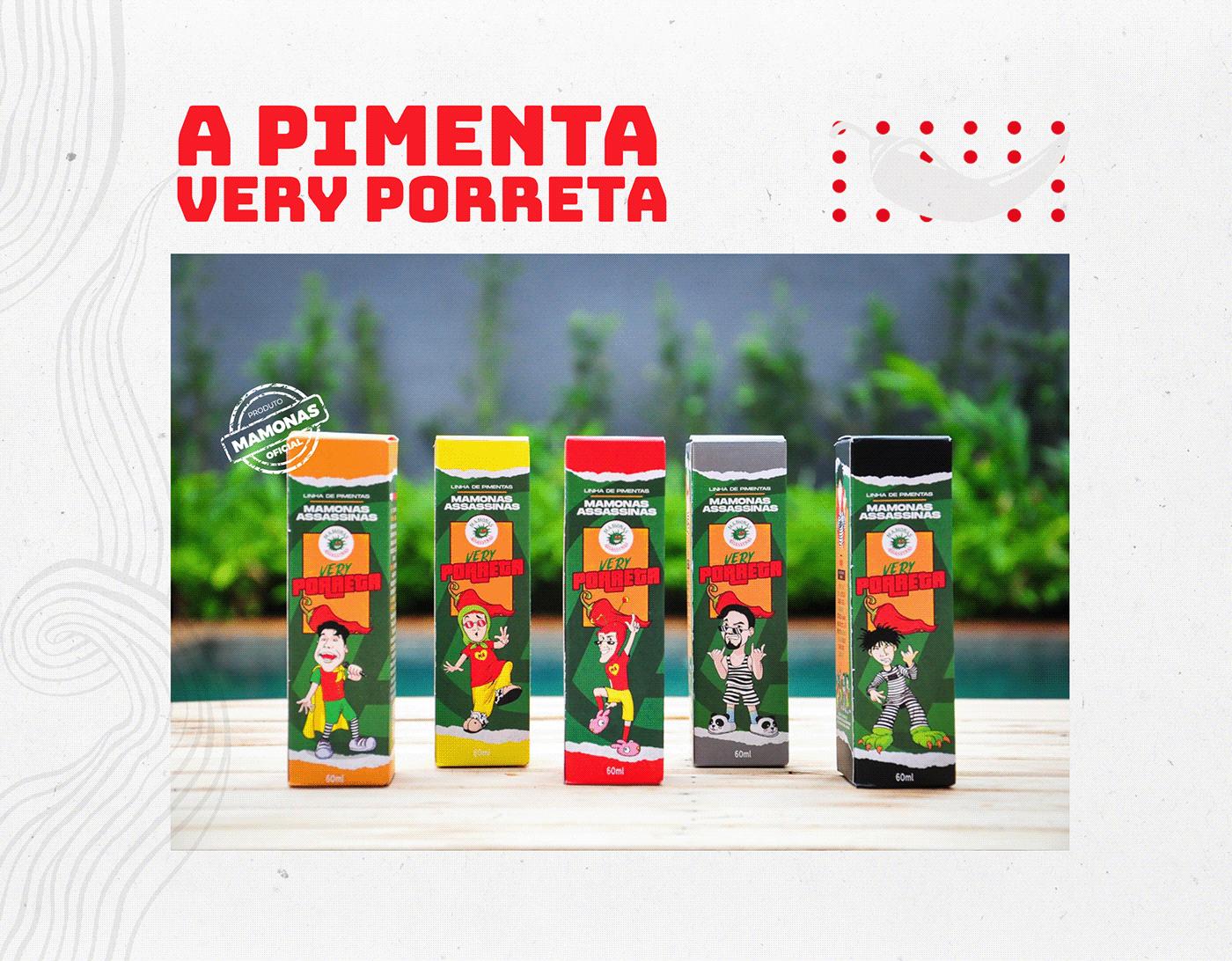 chili Chilli Beans design La pimi Mamonas Assassinas  Master Chefe molho de pimenta pepper sauce Pimenta