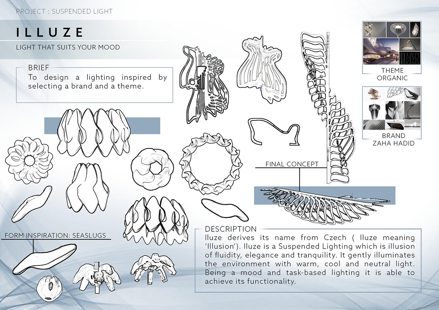 product design  industrial design  light design light Sculptris Zbrush Organic Design