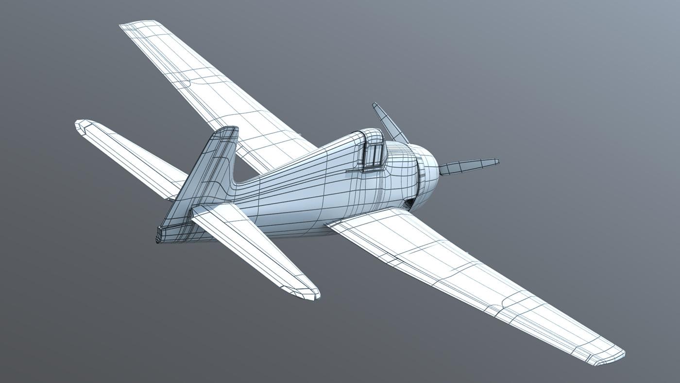 3D 3d modeling 3dmodel Aircraft plane Render World war 2 ww2