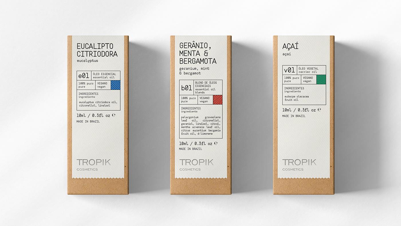 beauty Cosméticos cosmetics design essential oil óleos essenciais Packaging tropik tropik cosmetics VALKIRIA