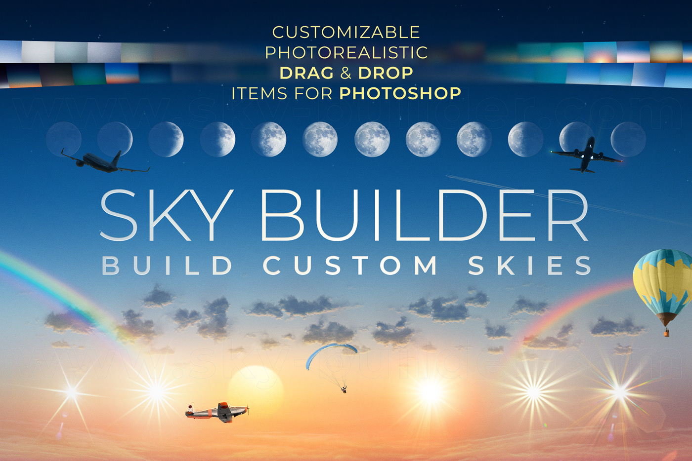 SKY,builder,bundle,skies,Create,clouds,Items,objects,photoshop,sunlight