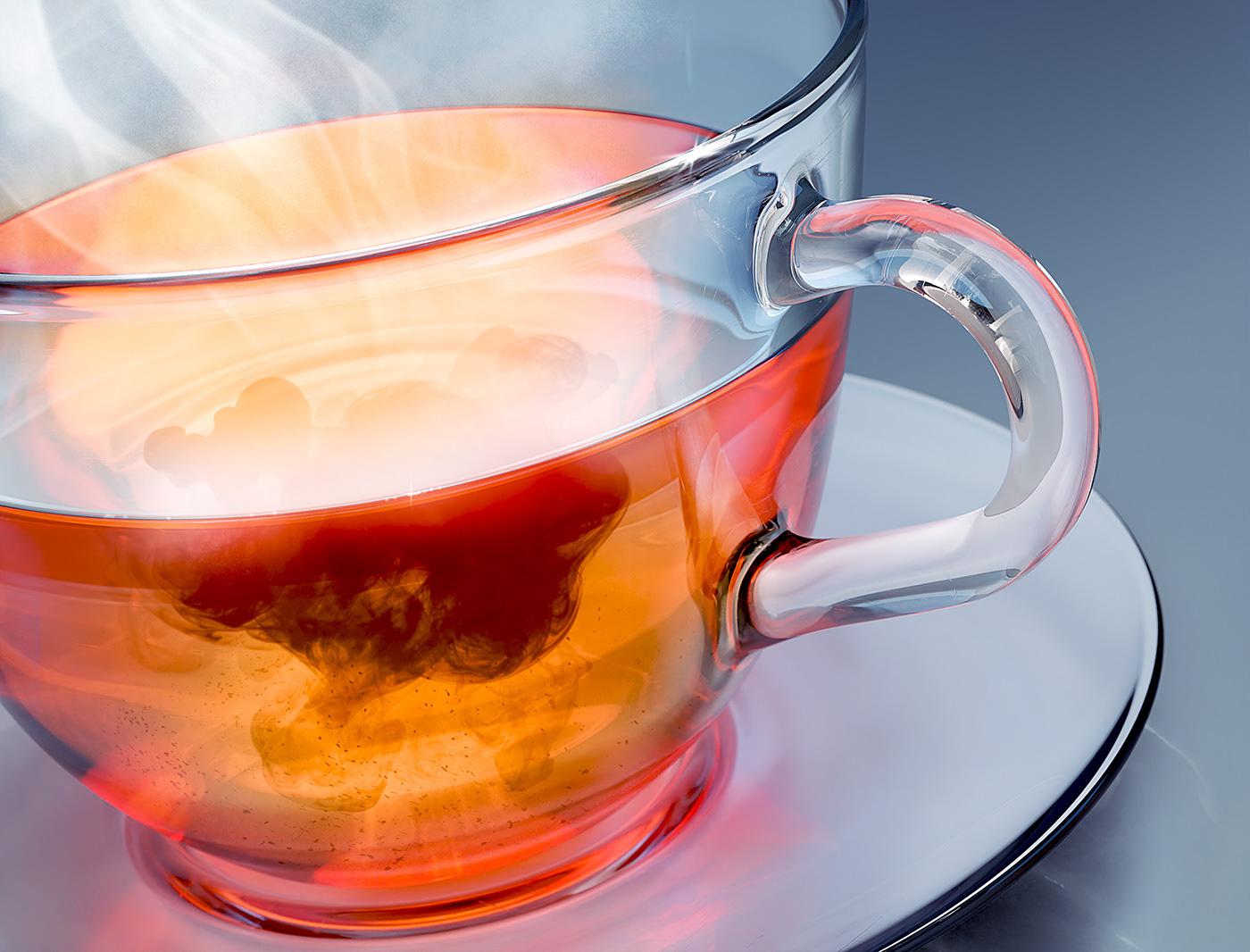 3D beverage blender caustics CGI drink Food  glass product tea