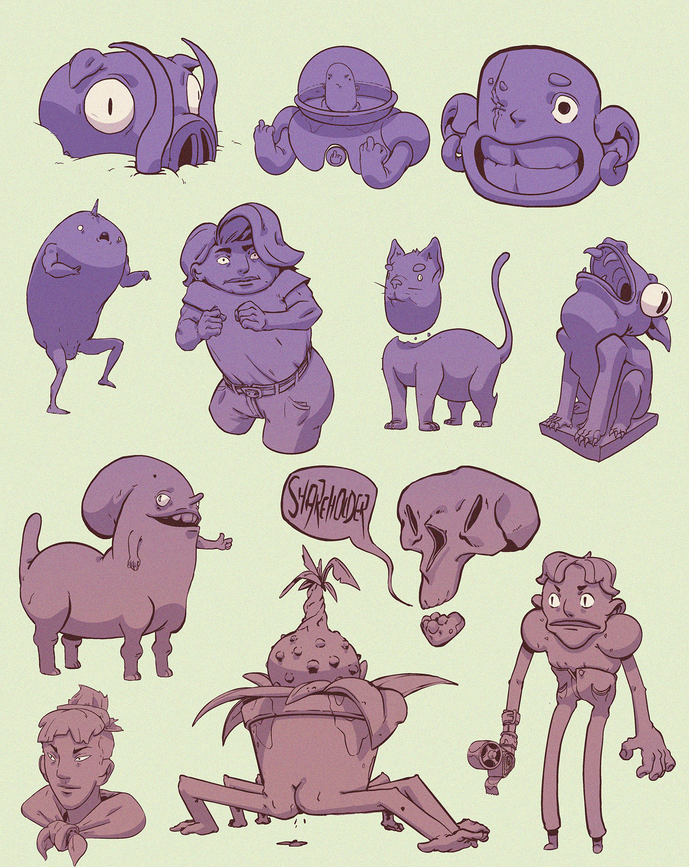 Image may contain: cartoon, animal and book