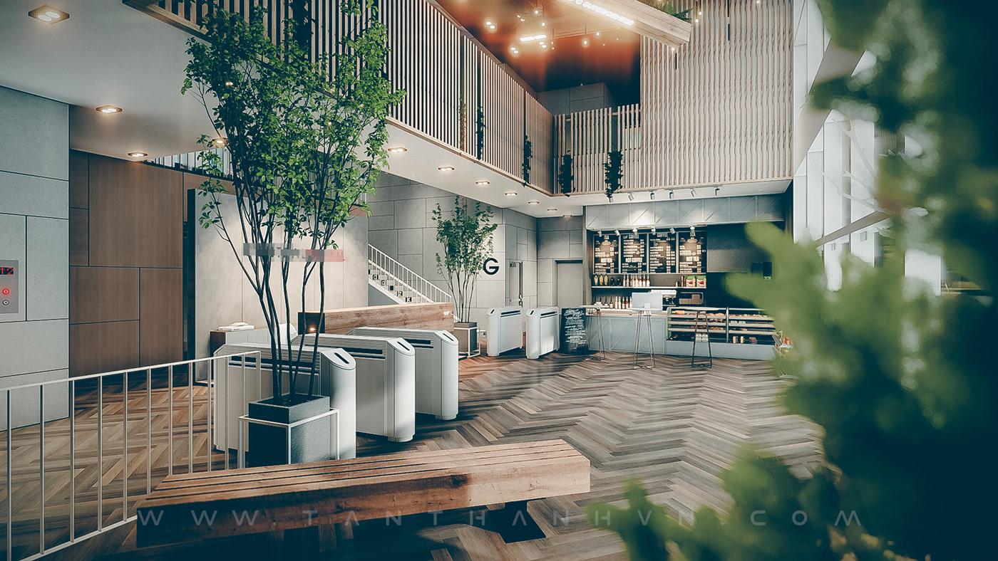 interior design  main lobby design Office OFFICE LOBBY DESIGN office main hall office main hall design