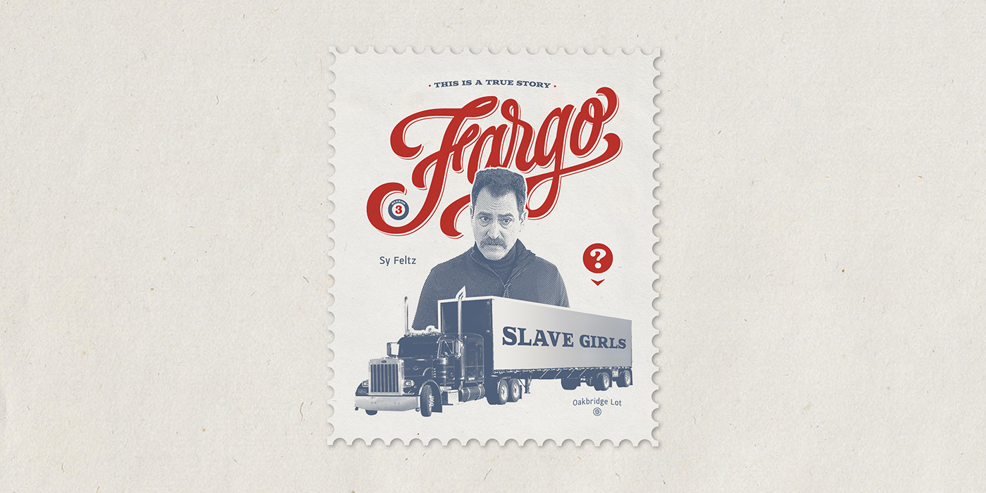 Fargo stamp poster font lettering letters TVseries Typeface paper fanart