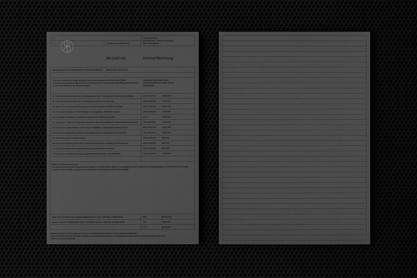 Roger Burkhard - Visual Identity, Website & Stationery on
