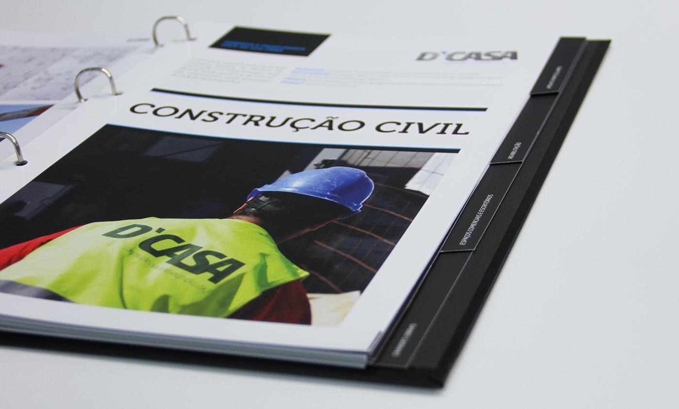 brochura identidade corporativa Cartão de Visita desdobrável