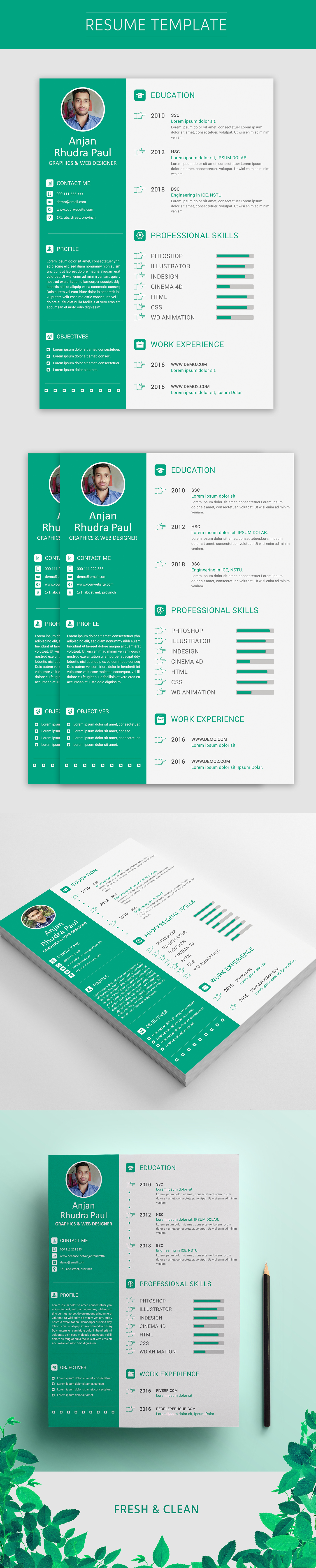 Personal CV/Resume Concept Design on Behance