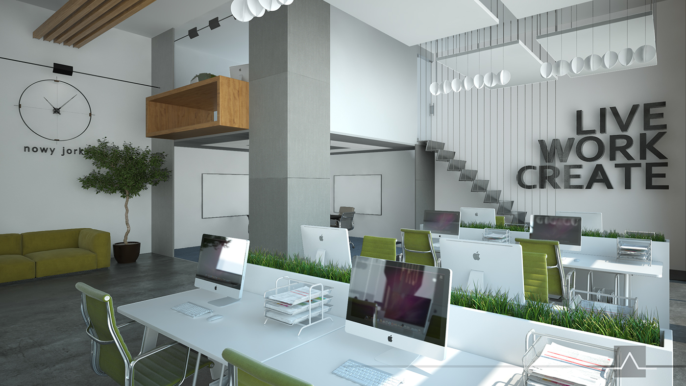Design Office In Open Space On Behance