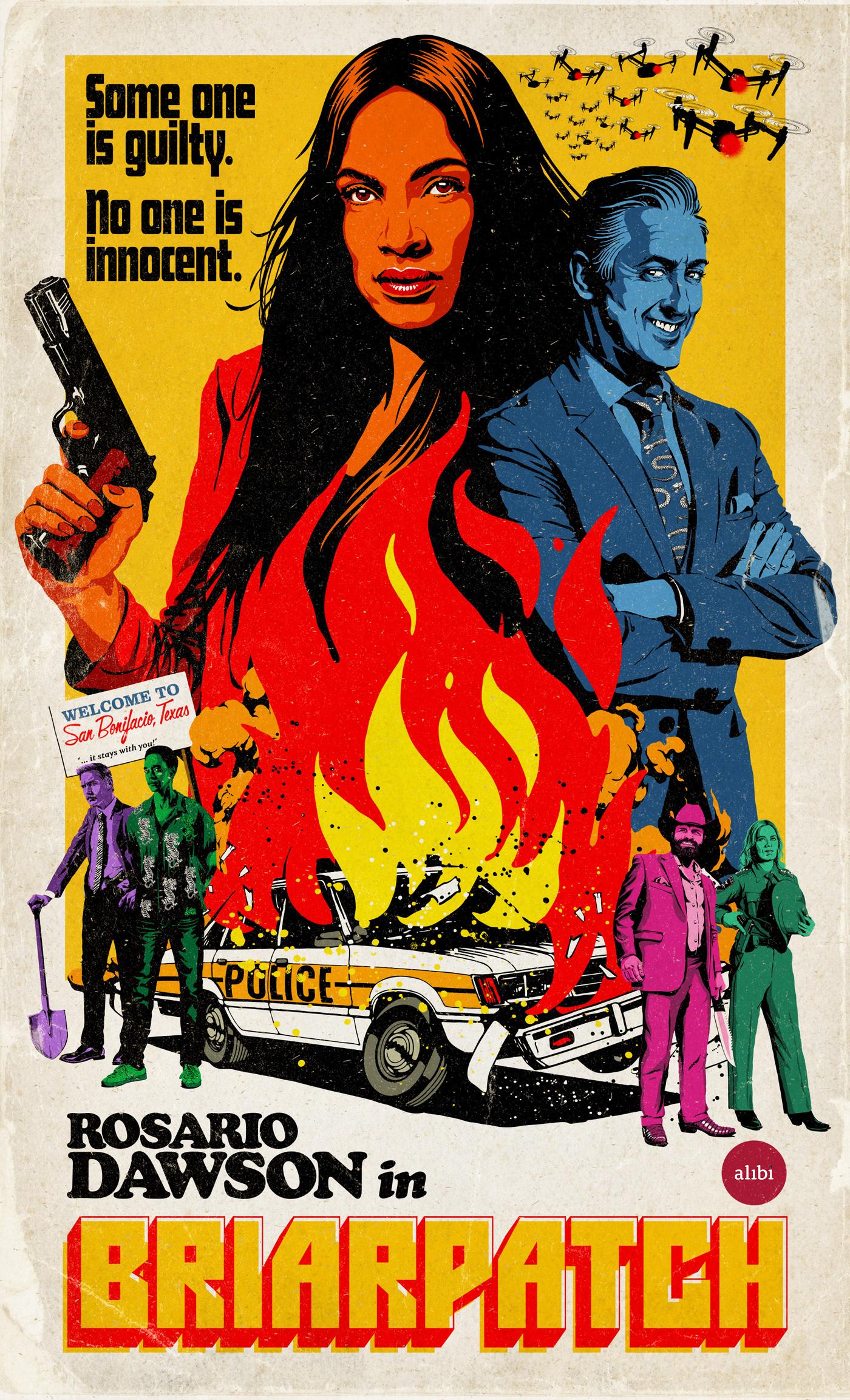 alan cumming Alibi Briarpatch crime Rosario Dawson thriller UK TV