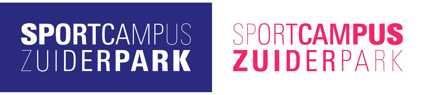 sport identity branding  Dutch design the hague Sportcampus Zuiderpark den haag total design sports