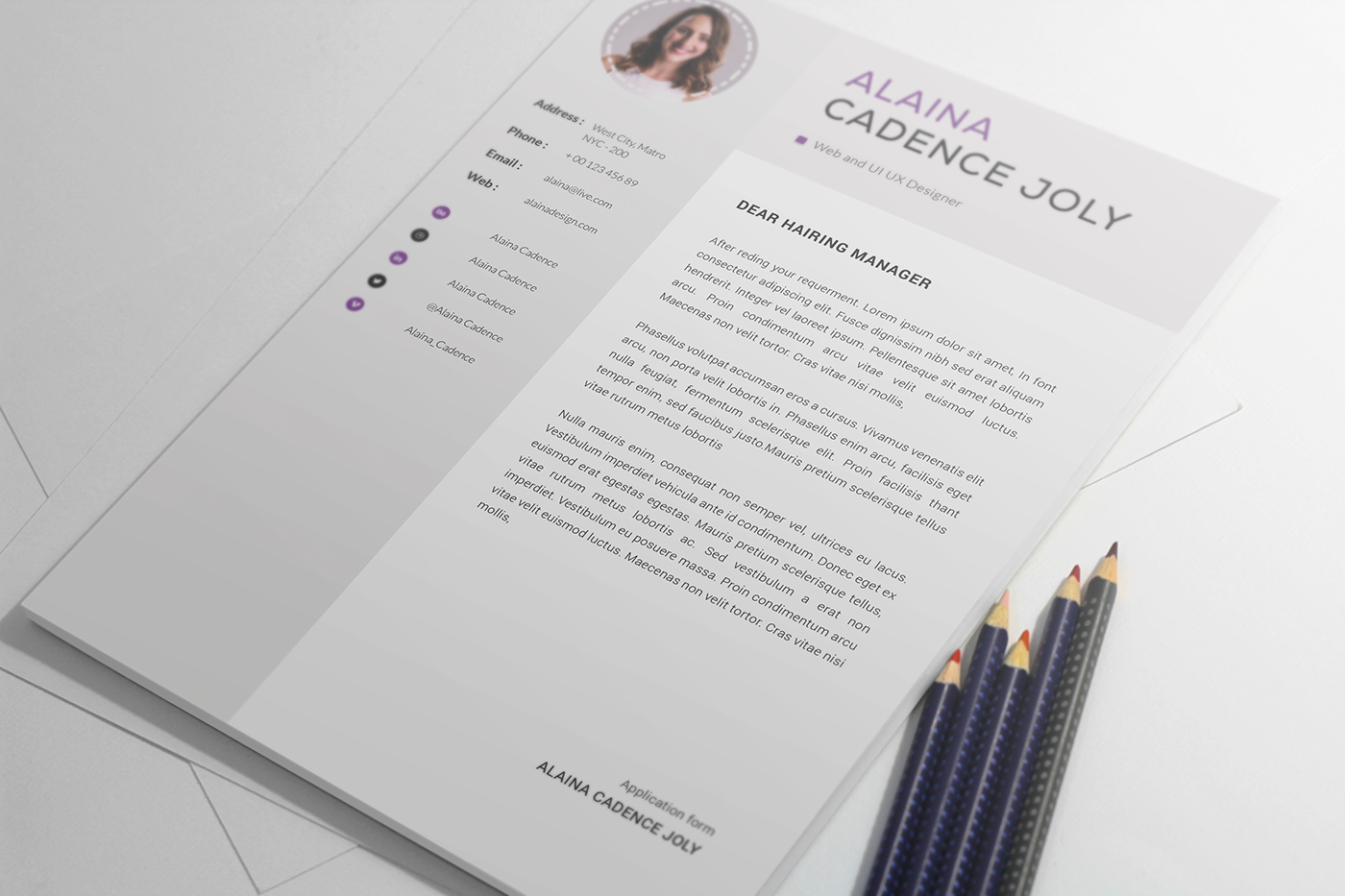 a4 CV clean CV template elegant elegant resume female resume free Freebie CV