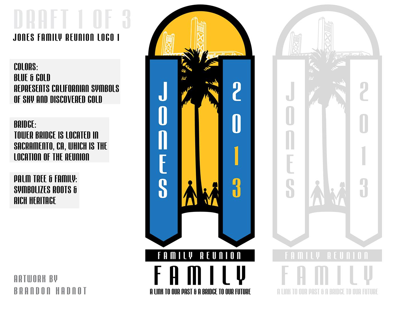 Family Reunion Logo Design Project On Behance